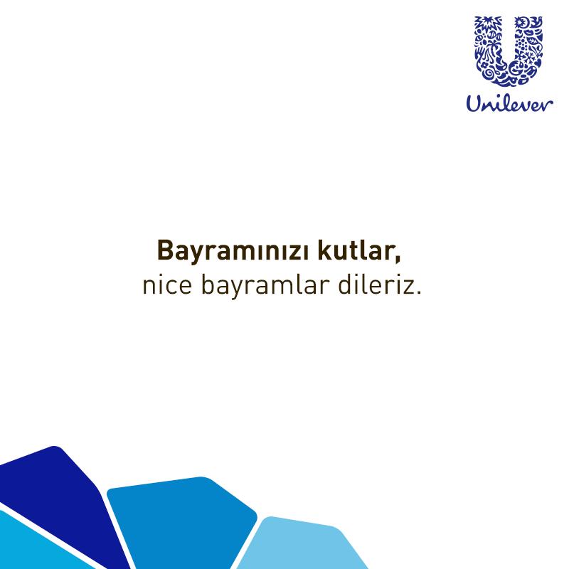 Unilever bayram mesajı